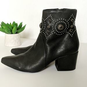 SIGERSON MORRISON Studded Leather Ankle Booties
